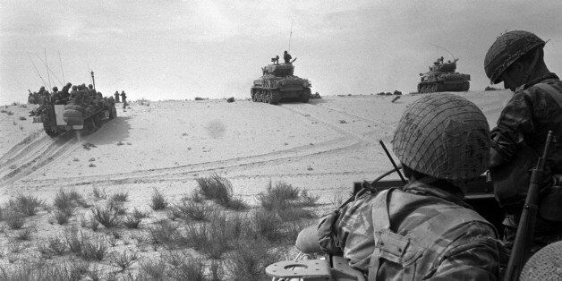 Israeli tanks manoeuvre on the outskirts of Rafah, in the southern Gaza Strip, during the Middle East...