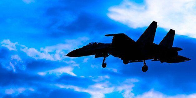 Contour aircraft Su-27 against the