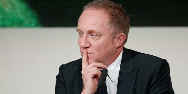 Francois-Henri Pinault, Chairman and chief executive officer of Kering, attends a press conference on...