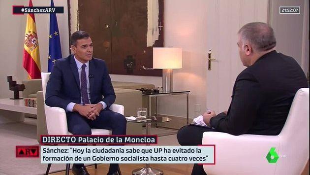 Pedro Sánchez, entrevistado por Antonio García