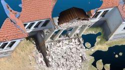 Η πληγείσα Βρίσα στην τρισδιάστατη απεικόνισή της από ομάδα του Πανεπιστήμιου