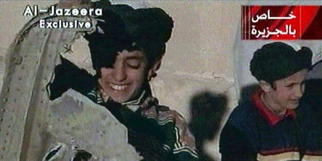 Picture taken from undated Al Jazeera television footage purportedly shows Hamza bin Osama bin Laden...
