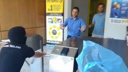 Βίντεο: Αναρχικοί τα «έσπασαν» σε γραφεία εταιρίας ηλεκτρονικών
