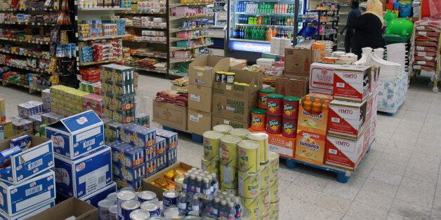 Food items are seen in a supermarket in Doha, Qatar June 7, 2017.