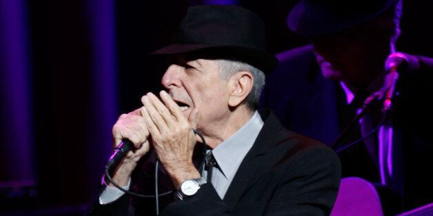 NEW YORK - FEBRUARY 19: Musician Leonard Cohen performs at the Beacon Theatre February 19, 2009 in New...