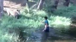 Απίστευτο βίντεο: Μεθυσμένος άνδρας μπήκε στο κλουβί με το λιοντάρι... για να το