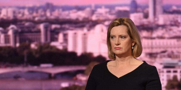 Britain's Home Secretary Amber Rudd speaks on the BBC's Marr Show in London, May 28, 2017. Jeff Overs/BBC...