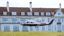 Angkatan udara Dipompa Uang Ke Trump Golf Resort Sebagai Helikopter antar-Jemput Ke Resort Menjatuhkan diri
