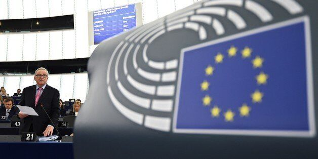 EU Commission president Jean-Claude Juncker speaks a debate on the conclusions of the last European Council,...