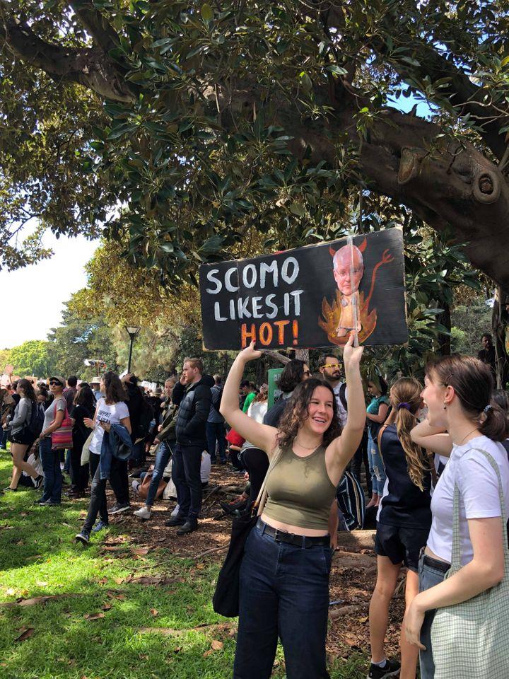 Many signs at the Sydney march took aim at Aussie Prime Minster Scott Morrison.