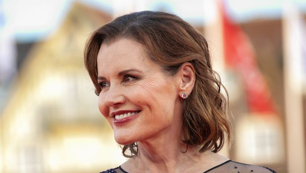 US director and actress Geena Davis poses on the red carpet during the 45th Deauville US Film Festival, on September 10, 2019, in Deauville. (Photo by LOU BENOIST / AFP)        (Photo credit should read LOU BENOIST/AFP/Getty Images)