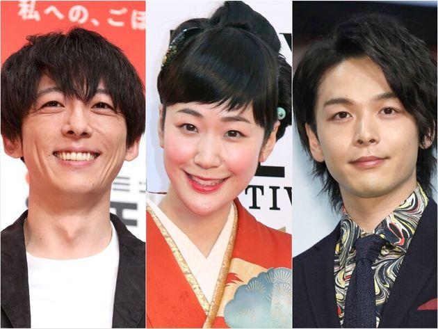 ドラマ「凪のお暇」に出演する、黒木華(中央)、高橋一生(左)、中村倫也(右)