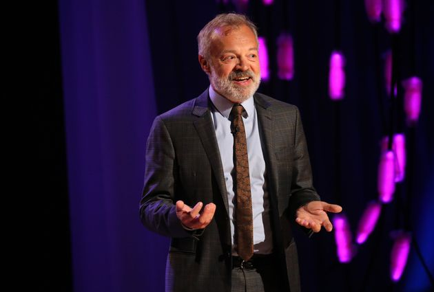 Host Graham Norton during the filming for the Graham Norton Show at BBC Studioworks 6 Television Centre,...