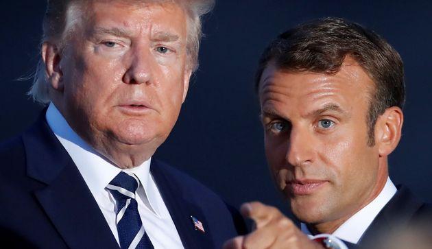 Emmanuel Macron et Donald Trump lors du sommet du G7 à