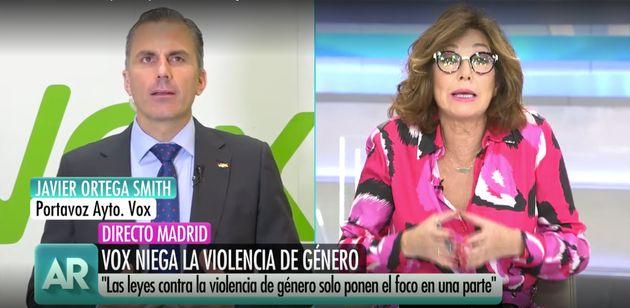 Javier Ortega Smith entrevistado por Ana Rosa Quintana en 'El Programa de AR'