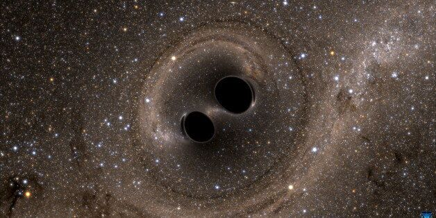 The collision of two black holes - a tremendously powerful event detected for the first time ever by...