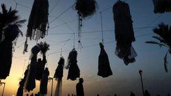 Οι γυναίκες του Λίβανου κρέμασαν νυφικά στη παραλία της Βηρυτού για να πολεμήσουν έναν απαρχαιωμένο