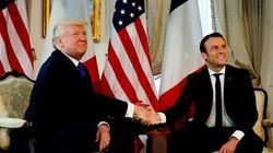 Ο Τραμπ συνάντησε τον Μακρόν και του έπλεξε το εγκώμιο της «καταπληκτικής νίκης»