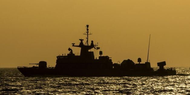 A Greek vessel HS Krystallidis missile boat takes part in the 'Novel Dina 17' training session in the...