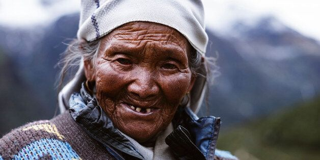 NAMCHE BAZAR, SOLU-KHUMBU - SEPTEMBER 21: Residents of the Himalayas live and work a hard life, this...