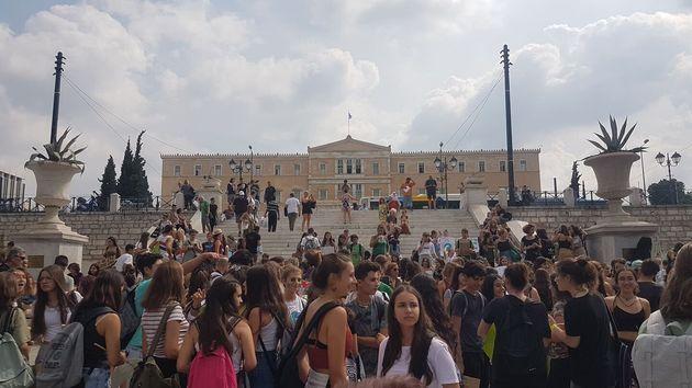 H γενική απεργία των μαθητών...