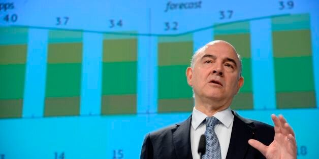 European Union Commissioner for Economic and Financial Affairs, Taxation and Customs Pierre Moscovici...