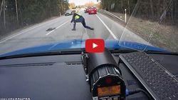 Εσθονία: Αστυνομικός χρησιμοποιεί λωρίδα με καρφιά για να σταματήσει