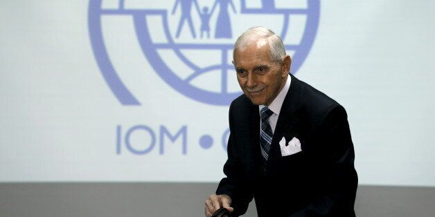 International Organization for Migration (IOM) Director-General William Lacy Swing attends a news conference in Bangkok, a day ahead of an Indian Ocean Irregular Migration meeting, Thailand, December 3, 2015.  REUTERS/Chaiwat Subprasom