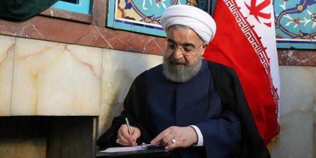 TEHRAN, IRAN - MAY 19: (----EDITORIAL USE ONLY MANDATORY CREDIT - 'IRANIAN PRESIDENCY / HANDOUT' - NO...