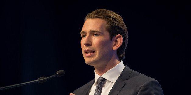 MUNICH, GERMANY - NOVEMBER 04: Sebastian Kurz, Austrian Federal Minister during at the annual CSU party...