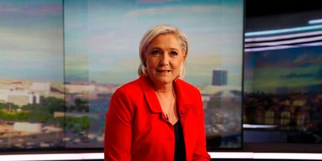 Former French presidential election candidate for the far-right Front National (FN) party Marine Le Pen...