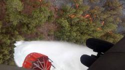 Συγκλονιστικές εικόνες: H μάχη του στρατού για την κατάσβεση της πυρκαγιάς στους Αγίους