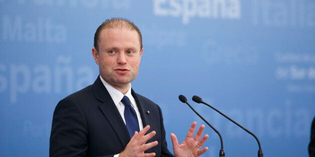 MADRID, SPAIN - APRIL 10: Prime Minister of Malta Joseph Muscat speaks during a joint statement at the...