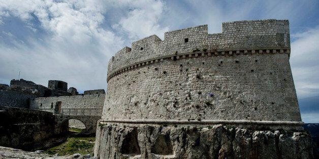 BARI, PUGLIA, ITALY - 2017/01/02: A view Norman-Swabian castle of Monte Sant'Angelo, Gargano national park, Apulia. (Photo by Salvatore Laporta/KONTROLAB /LightRocket via Getty Images)