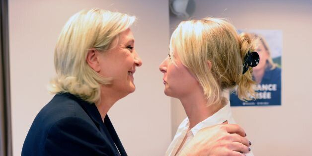French far-right Front National (FN) party President and member of the European Parliament Marine Le...