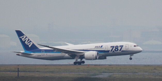 An All Nippon Airways' (ANA) Boeing Co's 787 Dreamliner plane, which flew from Sapporo in Northern Japan,...