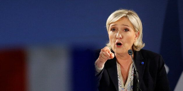 Marine Le Pen, French National Front (FN) political party leader and candidate for French 2017 presidential...