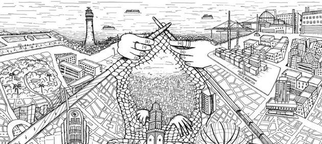 Illustration réalisée par l'artiste marocaine Aicha El