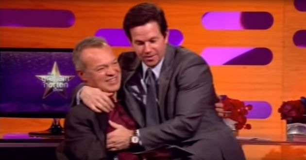 Mark Wahlberg cosies up to Graham Norton on the show in