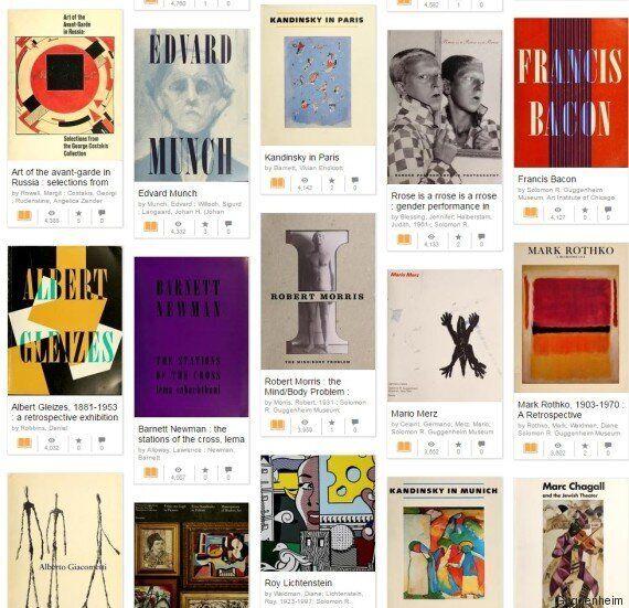 Το Guggenheim έκανε διαθέσιμα δωρεάν στο διαδίκτυο περισσότερα από 200 βιβλία σύγχρονης