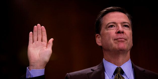 WASHINGTON, DC - MAY 3: Director of the Federal Bureau of Investigation, James Comey testifies in front...