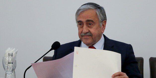 ISTANBUL, TURKEY - APRIL 06: Turkish Cypriot leader Mustafa Akinci speaks during the 20th Eurasian Economic...