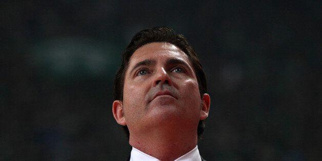 ATHENS, GREECE - APRIL 20: Xavi Pascual, Head Coach of Panathinaikos Superfoods Athens react during the...