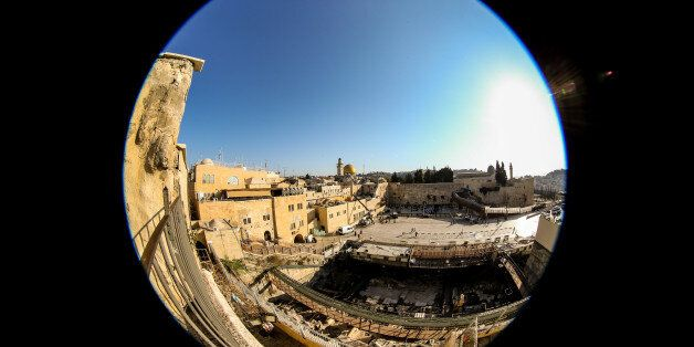 JERUSALEM, ISRAEL - OCTOBER 26: (EDITORS NOTE: A fisheye lens was used for this photo) A general view...