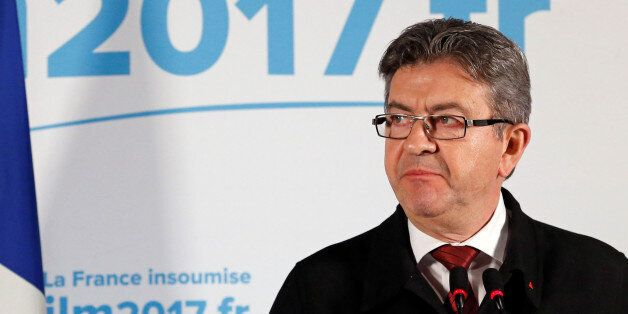Jean-Luc Melenchon, candidate of the French far-left Parti de Gauche and candidate for the French 2017...