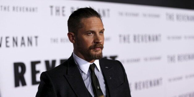 Cast member Tom Hardy poses at the premiere
