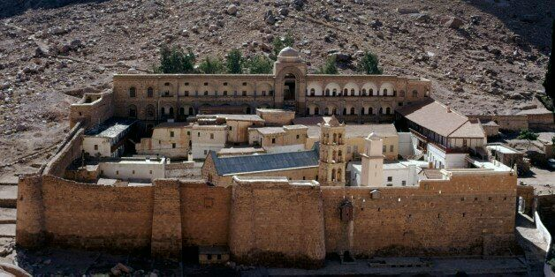 EGYPT - MARCH 5: Saint Catherine's Monastery, 6th century (UNESCO World Heritage List, 2002), Sinai Peninsula,...