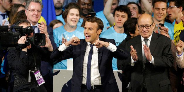 Emmanuel Macron, head of the political movement En Marche!, or Onwards!, and candidate for the 2017 presidential...