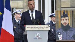 Ένας ύμνος κατά του μίσους. Αυτό ήταν ο επικήδειος του συζύγου του νεκρού αστυνομικού κατά την τρομοκρατική επίθεση στο