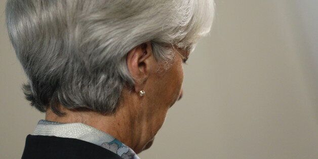 International Monetary Fund (IMF) Managing Director Christine Lagarde sits for an interview at IMF headquarters...